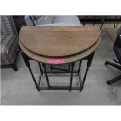 Vintage wood table with swing out legs