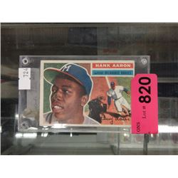 1956 Topps Hank Aaron baseball card