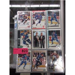 6 Pages of Joe Sakic hockey cards