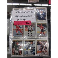 Complete 1992 Premier hockey card set