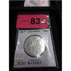 1961 Canadian Silver .50¢ Coin