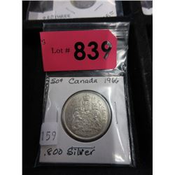 1966 Canadian Silver .50¢ Coin