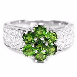 Natural Green Diopside Ring