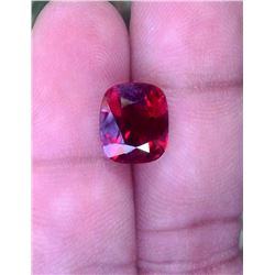 Full Fire Red Cushion Garnet 6.50 Carats