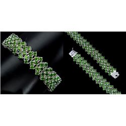 NATURAL GREEN CHROME DIOPSIDE BRACELET