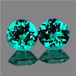 Natural Paraiba Green Blue Apatite Pair  6.50 MM - FL