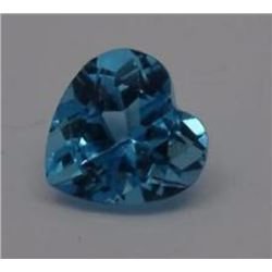 Natural London Blue Topaz Heart 5.65 cts - VVS