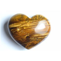 Natural Tigers Eye Heart 259.97 carats