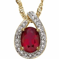 Genuine Ruby & Diamond Pendant