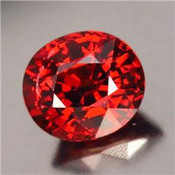 Natural Orange Fire Red Orange Spessartite 2.69 ct VVS