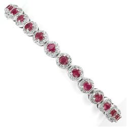 Natural Red Ruby Bracelet