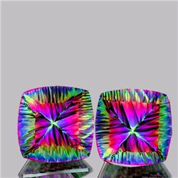 Natural Concave Cushion Mystic Topaz 29.14 Cts - If
