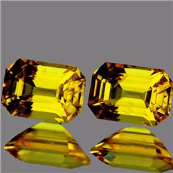 Natural Yellow Sapphire Pair 1.45 cts{Flawless-VVS1}