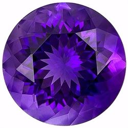 Natural Round Brilliant Amethyst 17.71 Carats - VVS