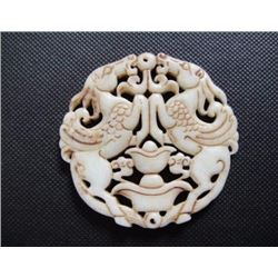 Old China White jade hand-carved pegasus Pendant