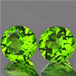 Natural Peridot Pair 4.52 cts - VVS