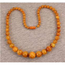 Antique Natural Egg Yolk ButterScotch Amber Necklace
