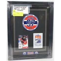 CONNOR MCDAVID PRE NHL CARD FRAMED