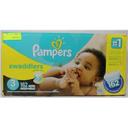 162PC PAMPERS SWADDLERS DIAPERS