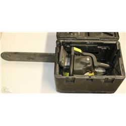 "RYOBI 18"" CHAINSAW WITH CASE"