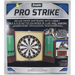 FRANKLIN PRO STRIKE DELUXE PAPER DARTBOARD WITH