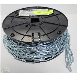100' ROLL OF #4 STRAIGHT LINK COIL CHAIN
