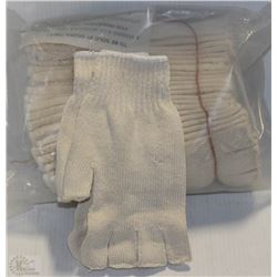 12 PAIRS OF FINGERLESS GLOVE LINERS
