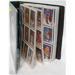 ALBUM WITH 1991 BASKETBALL CARDS