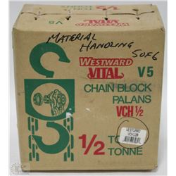 NEW 1/2 TON WESTWARD CHAIN HOIST BLOCK