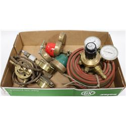 LOT OF MANY REGULATORS INCL OXYGEN & ACETYLENE