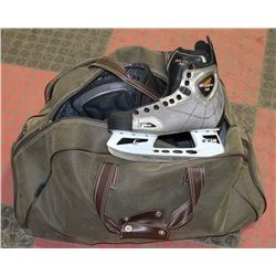 BAG OF HOCKEY GEAR - CCM VECTOR 3.0 SKATES BOYS