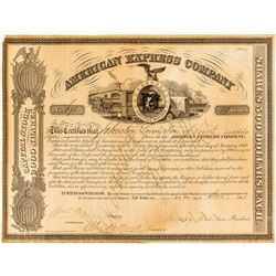 American Express Company Stock Certificate to Johnston Livingston