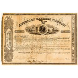 American Express Company Stock Certificate with Johnston Livingston signature