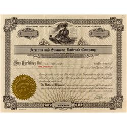 Arizona & Swansea Railroad Company Stock Certificate 2