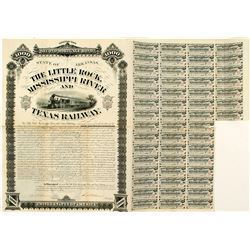 Little Rock, Mississippi River and Texas Railway Bond