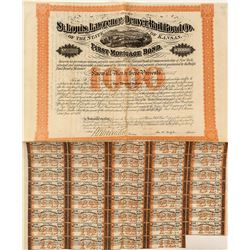 St. Louis, Lawrence & Denver Railroad Company Bond