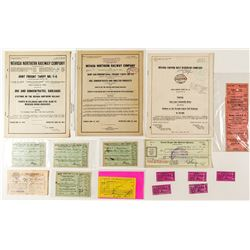 Nevada Railroad Ephemera