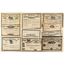 Pre-1900 Philadelphia Railroad Stock Collection