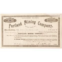 Portland Mining Company Stock Certificate