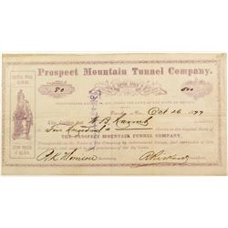Prospect Mountain Tunnel Company Stock Certificate