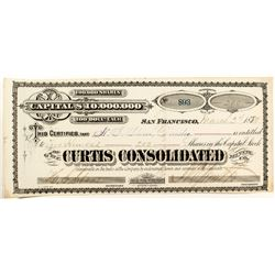Curtis Consolidated Mining Co. Stock Certificate