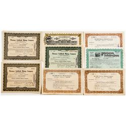 Goldfield, Florence and Combination Mining Stock Certificates