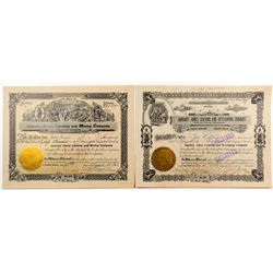 January Jones Mining Stock Certificates w/ Jones Signature & Huge Transfer of Shares