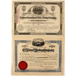 Mexico Mining Stock Certificates