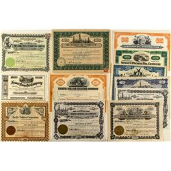 California Oil Stock Certificate Collection