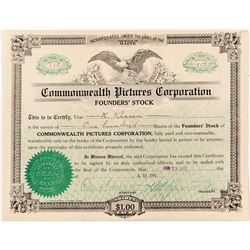 Commonwealth Pictures Corporation Stock Certificate