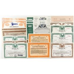 Theater Company Stock Certificate Collection