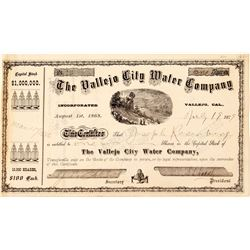 Vallejo City Water Company stock certificate