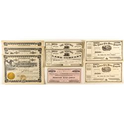 California Land & Water Company Stock Certificates