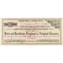 Bodie & Hawthorne Telegraph Stock issued to Chinese Merchant